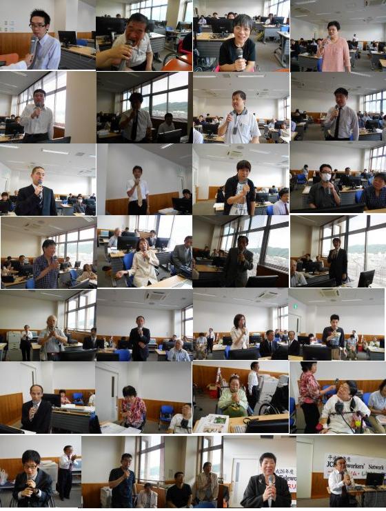 写真:自己紹介とスピーチをするJCI会員