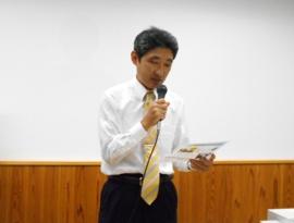 写真:発表するJCI若松英士正会員